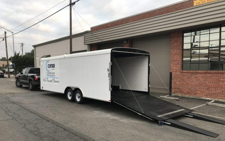Single level single car trailer